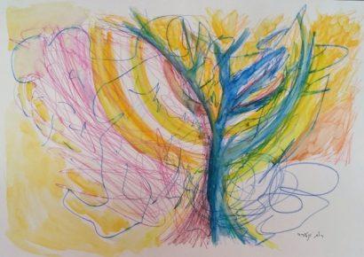 עץ חיים ומנורה