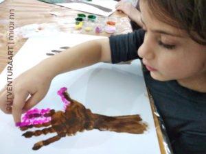 ציור עץ -רות ונטורה