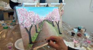 מציירות שקדיות מסיבת ציור